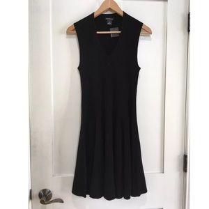 [Club Monaco] Black Knit Ribbed Fit Flare Dress